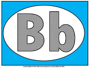 Alphabet Set of posters (Blue)