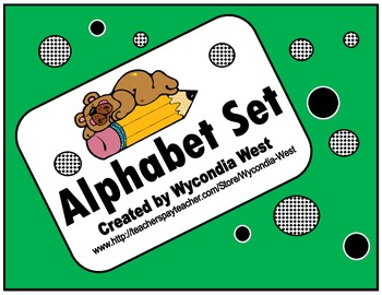 Alphabet Set of posters (Green)