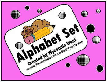 Alphabet Set of posters (Pink)