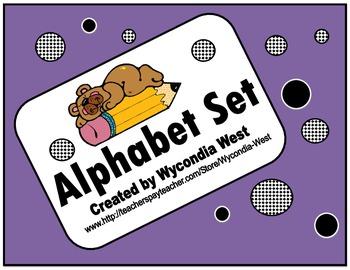 Alphabet Set of posters (Purple)