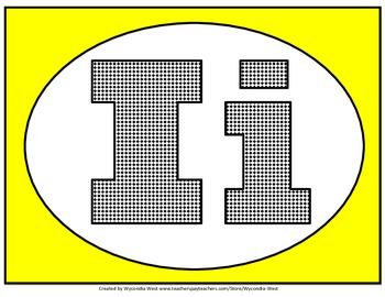 Alphabet Set of posters (Yellow))