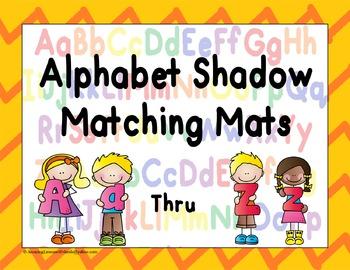 Alphabet Shadows Matching Mats