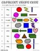 Alphabet Shape Code, Dolch First Grade Sight Words