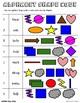 Alphabet Shape Code, Dolch Second Grade Sight Words