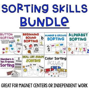 Alphabet, Shape, and Number Sorting Activities Bundle