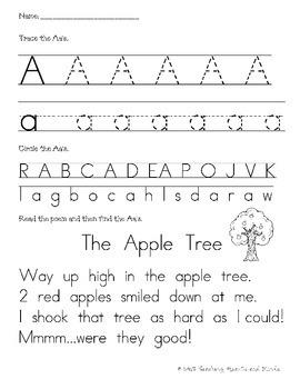 Alphabet Poem Worksheets