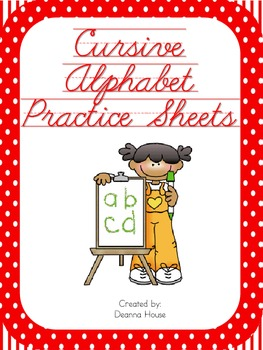 Alphabet Sheets With Cursive Letters