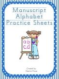 Alphabet Sheets With Manuscript Letters