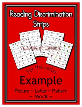 Alphabet & Sight Word Fluency Reading Discrimination Strips ~ Bundle ~ 26 Sets