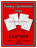 Alphabet & Sight Word Fluency Reading Discrimination Strip