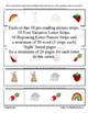 Alphabet & Sight Word Fluency Reading Discrimination Strip