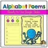 Alphabet Sight Word Poems | Distance Learning | Google Slides