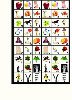 Alphabet Sign Language, ASL ABCs Full Color, Bookmark, Flash Cards & Free