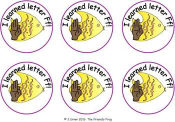 Alphabet Sign Language Brag Tags & Badges