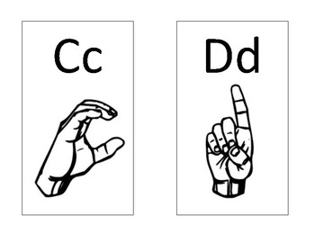 Alphabet Sign Language Cards