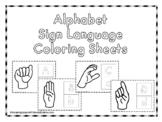 Alphabet Sign Language Coloring Shees