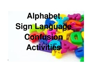 Alphabet Sign Language Confusion