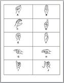 Alphabet Sign Language Flash Cards