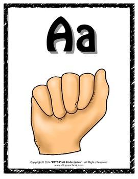 Alphabet Sign Language Posters