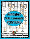 Alphabet Sign Language Posters