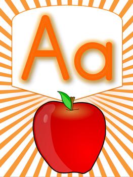 Alphabet Signs (Orange)