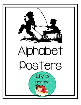 Alphabet Silhouette Posters