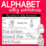 Build and Write Silly Alphabet Sentences
