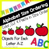 Alphabet Size Ordering