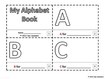 Alphabet Sketch and Color Booklet - ENGLISH