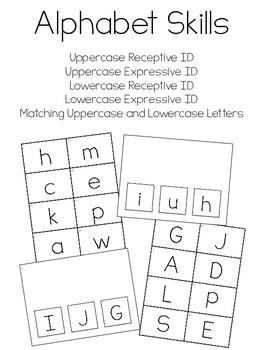 Alphabet Skills Assessments