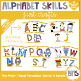Alphabet Skills | Uppercase Letter Crafts A-Z | Printable