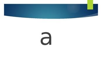 Alphabet Slide Show