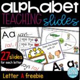 FREE Alphabet Slide Aa  l interactive Slides l