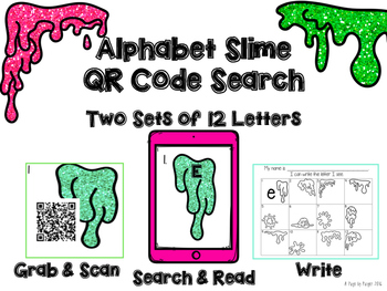 Alphabet Slime QR Code Search