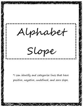 Alphabet Slope Activity