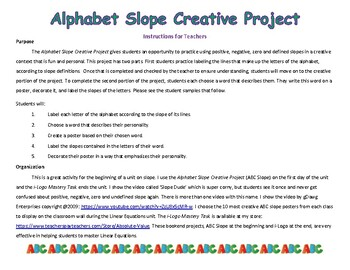 Alphabet Slope Creative Project