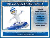 Alphabet Slope Creative Project - Project Based Learning (PBL) with Math