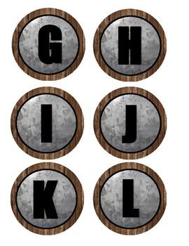 Alphabet Small Circle Labels