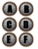 Alphabet Small Circle Labels