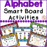 Alphabet Smart Board Activities Letters and Sounds Bundle