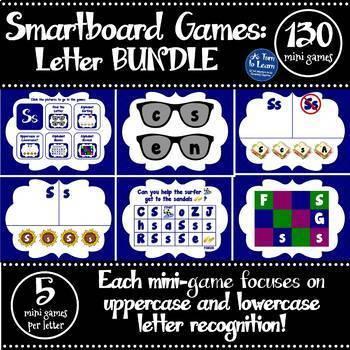 Letter of the Week Smartboard Games MEGA BUNDLE (5 games for each letter!)