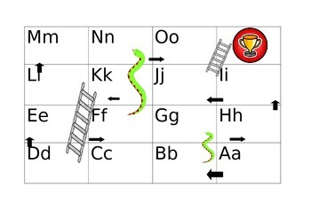 Alphabet Snakes and Ladders