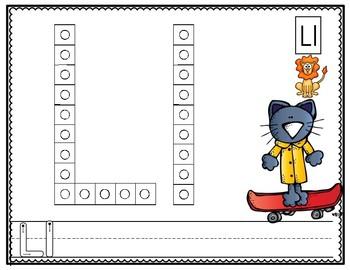 Alphabet Snap Cube Letter Mats