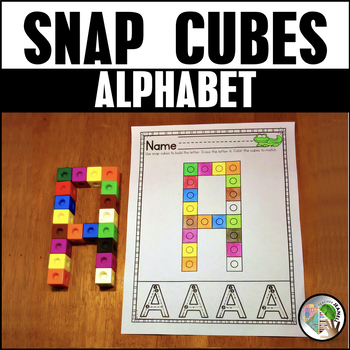 Alphabet Snap Cube Worksheets