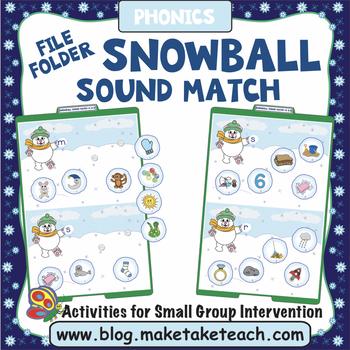 Alphabet - Snowball Themed File Folder Alphabet Match