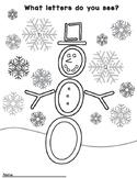 Alphabet Snowman