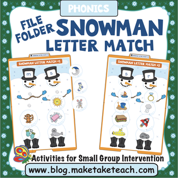 Alphabet - Snowman Themed File Folder Alphabet Match