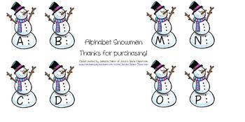 Alphabet Snowmen