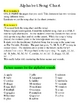 Alphabet Song Chart