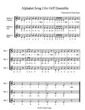 Alphabet Song I for Orff Ensemble